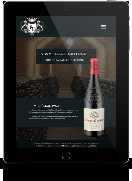 site internet vitrine responsive tablette AK Digital