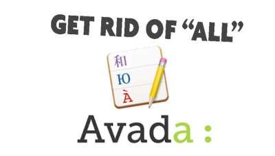 Traduire ALL filtre portfolio AVADA theme envato