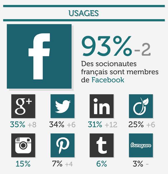 infographie usage des medias sociaux en 2013