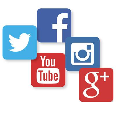 icones reseau sociaux Facebook Twitter Instagram Google Youtube