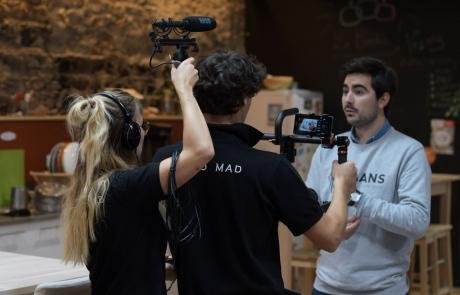 tournage video backstage MAANS agence ak digital avignon
