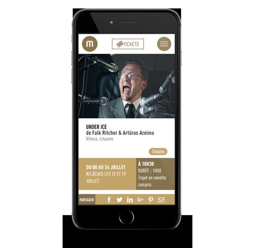 site web mobile la manufacture festival Avignon réalisation ak digital